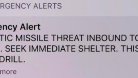 False Missile Threat in Hawaii Due to Misunderstanding