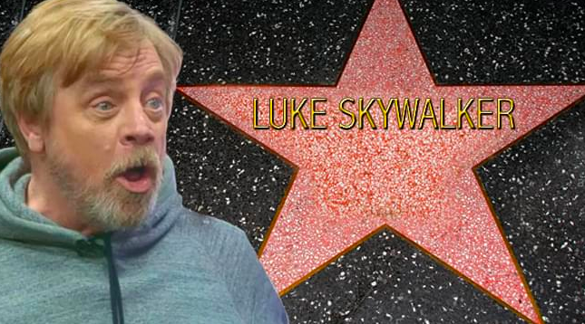 """""""Star Wars"""" Star Receives Hollywood Star of Fame"""