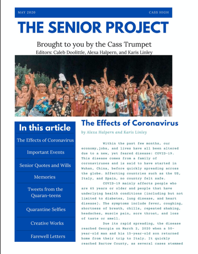 Seniors Say Goodbye in the Senior Project